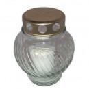 Grablampe glass, ball, height 13.5 cm, diameter 1